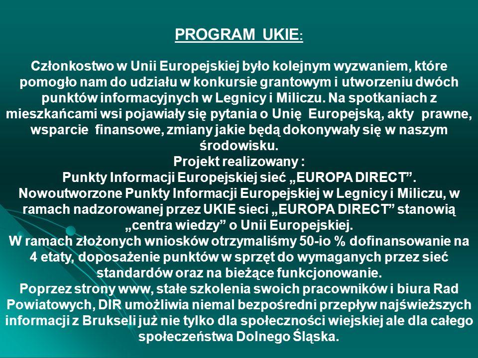 """Punkty Informacji Europejskiej sieć """"EUROPA DIRECT ."""
