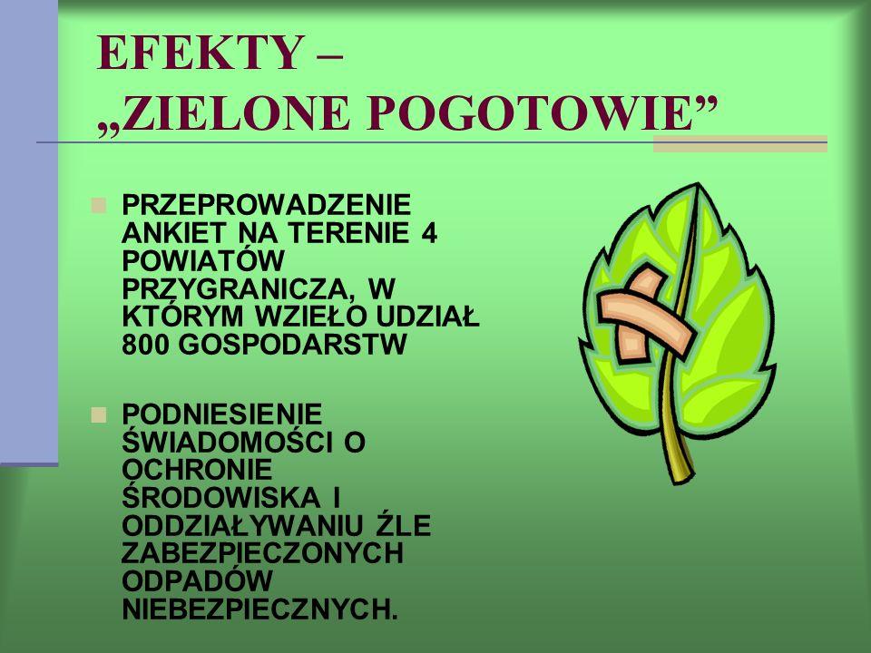 """EFEKTY – """"ZIELONE POGOTOWIE"""
