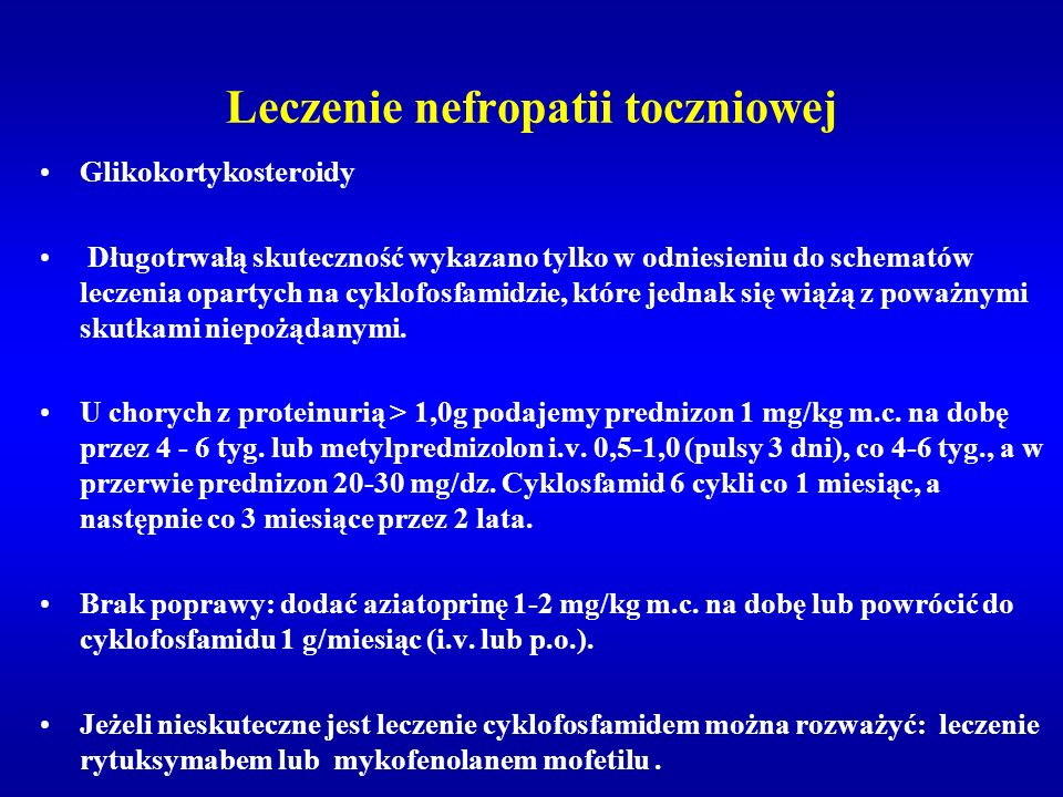 Leczenie nefropatii toczniowej