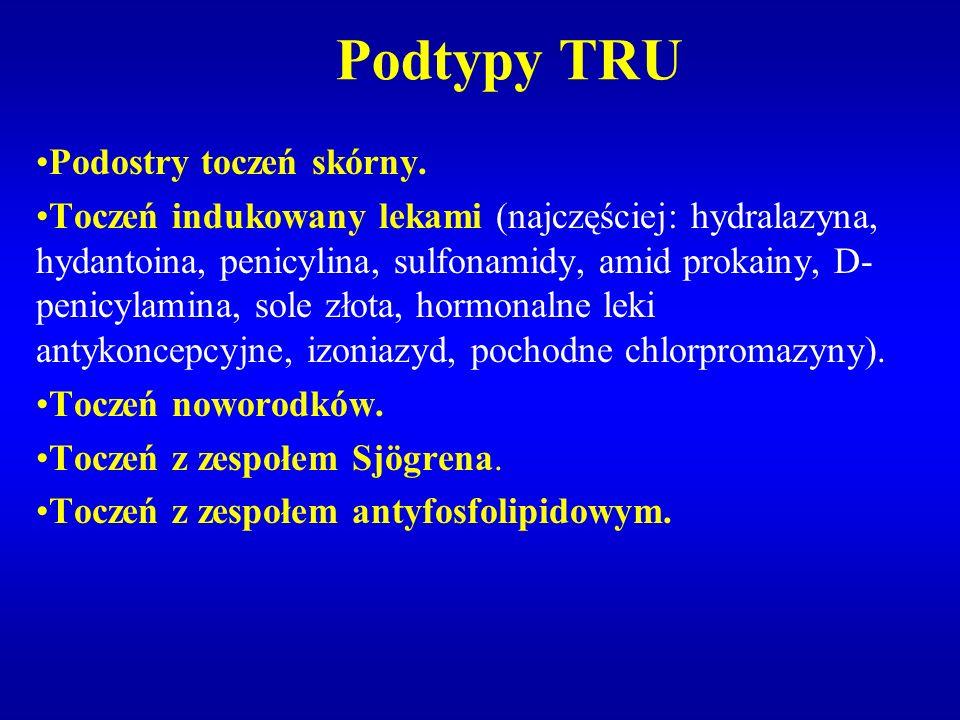 Podtypy TRU Podostry toczeń skórny.