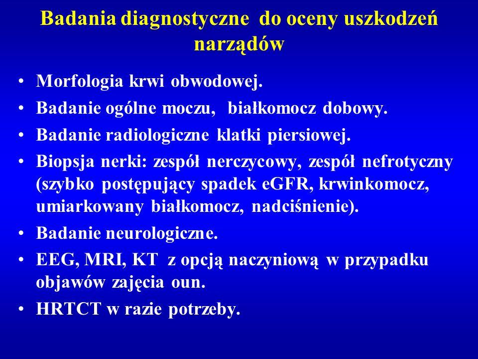 Badania diagnostyczne do oceny uszkodzeń narządów