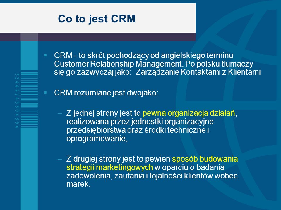 Co to jest CRM