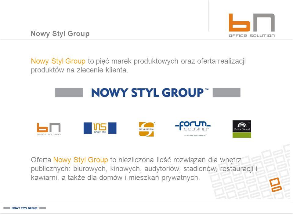 Nowy Styl Group Nowy Styl Group to pięć marek produktowych oraz oferta realizacji produktów na zlecenie klienta.