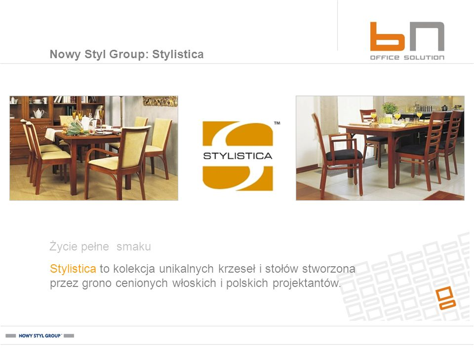 Nowy Styl Group: Stylistica