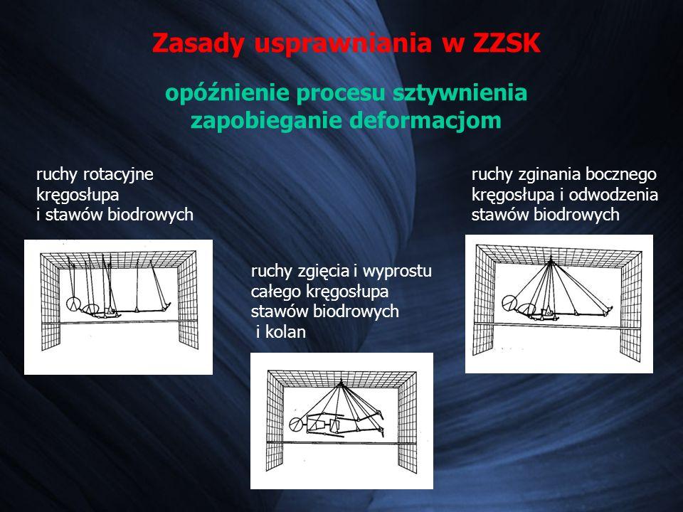 Zasady usprawniania w ZZSK opóźnienie procesu sztywnienia zapobieganie deformacjom