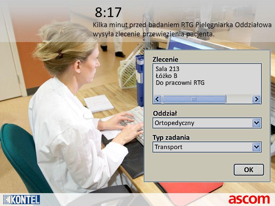 8:17 Kilka minut przed badaniem RTG Pielęgniarka Oddziałowa
