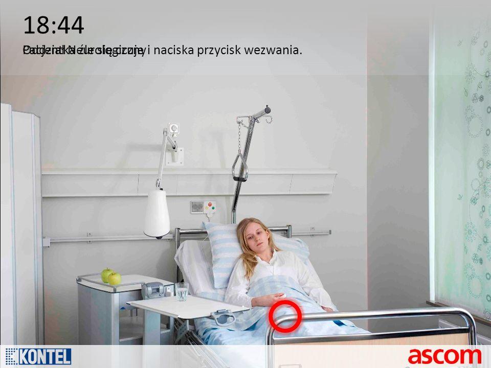 18:44 Pacjentka źle się czuje i naciska przycisk wezwania.