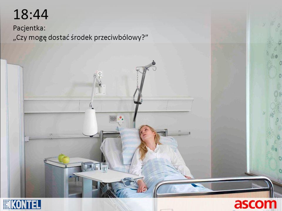 """18:44 Pacjentka: """"Czy mogę dostać środek przeciwbólowy"""
