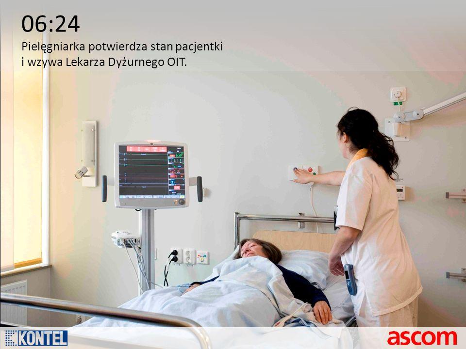 06:24 Pielęgniarka potwierdza stan pacjentki