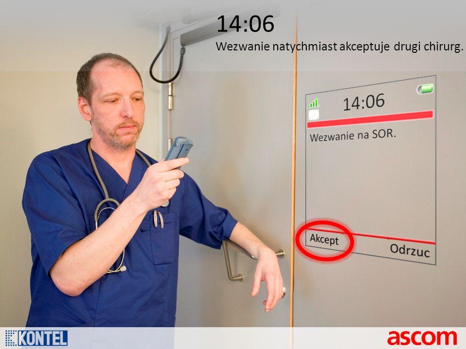 14:06 Wezwanie natychmiast akceptuje drugi chirurg.