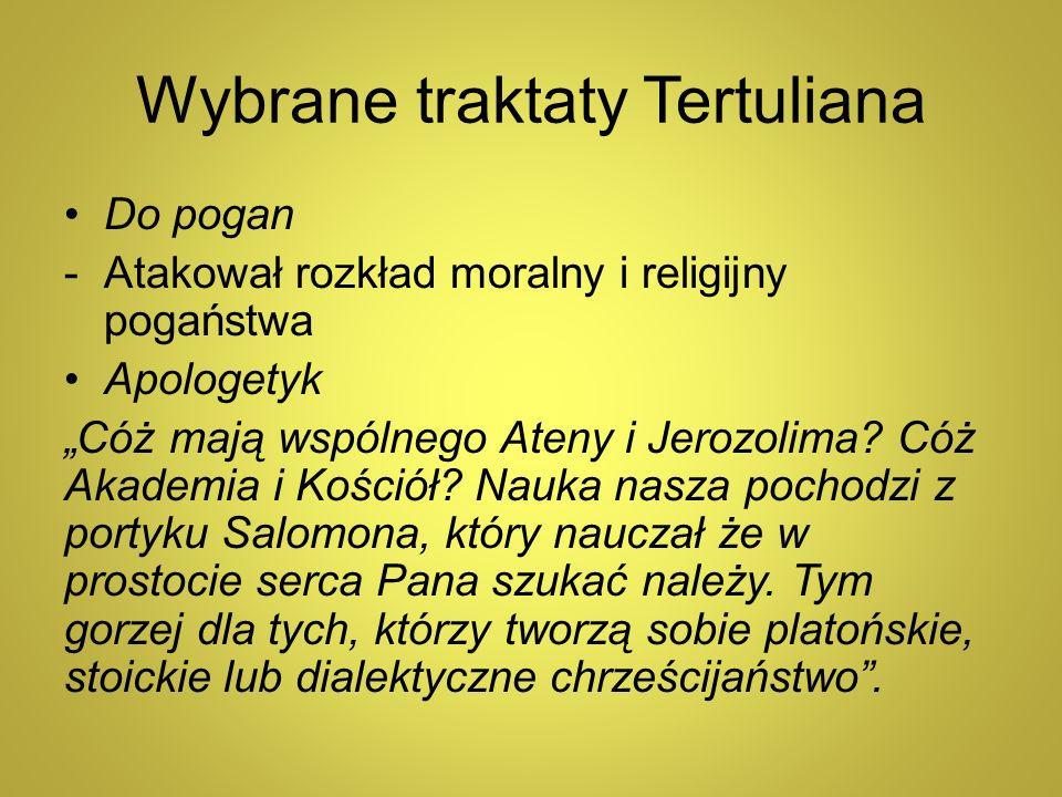 Wybrane traktaty Tertuliana