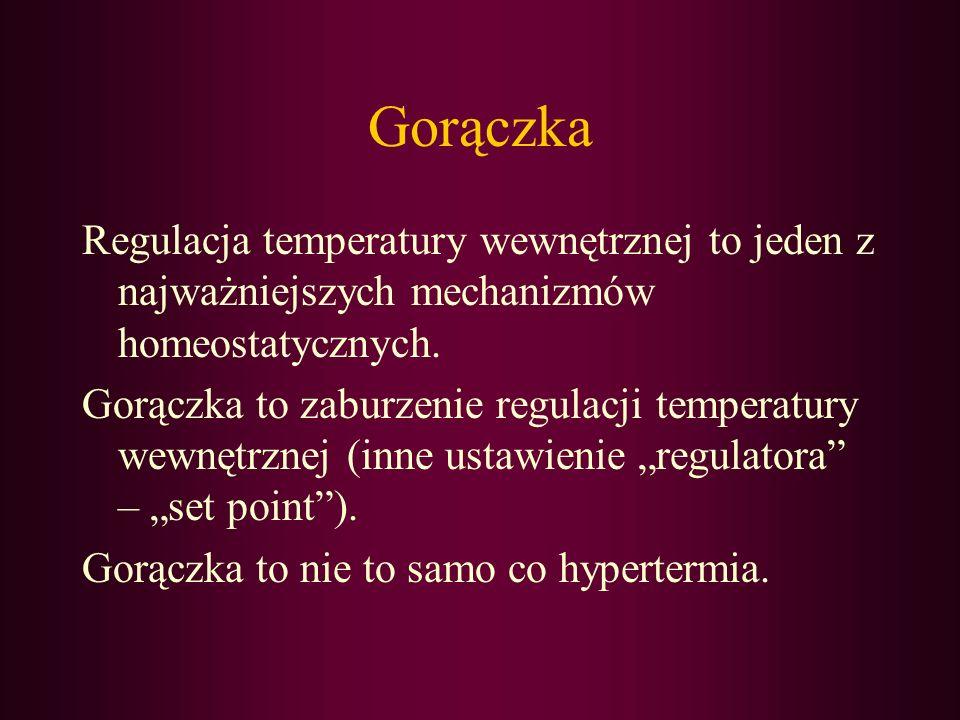 Gorączka Regulacja temperatury wewnętrznej to jeden z najważniejszych mechanizmów homeostatycznych.