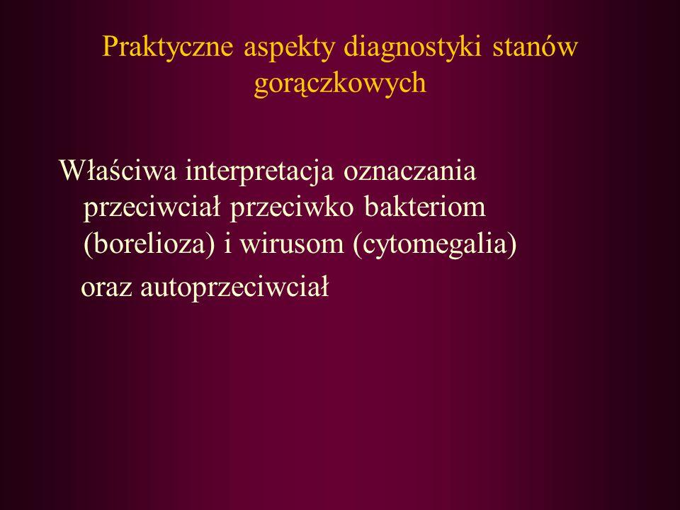 Praktyczne aspekty diagnostyki stanów gorączkowych