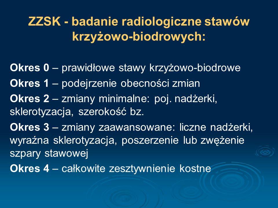 ZZSK - badanie radiologiczne stawów krzyżowo-biodrowych: