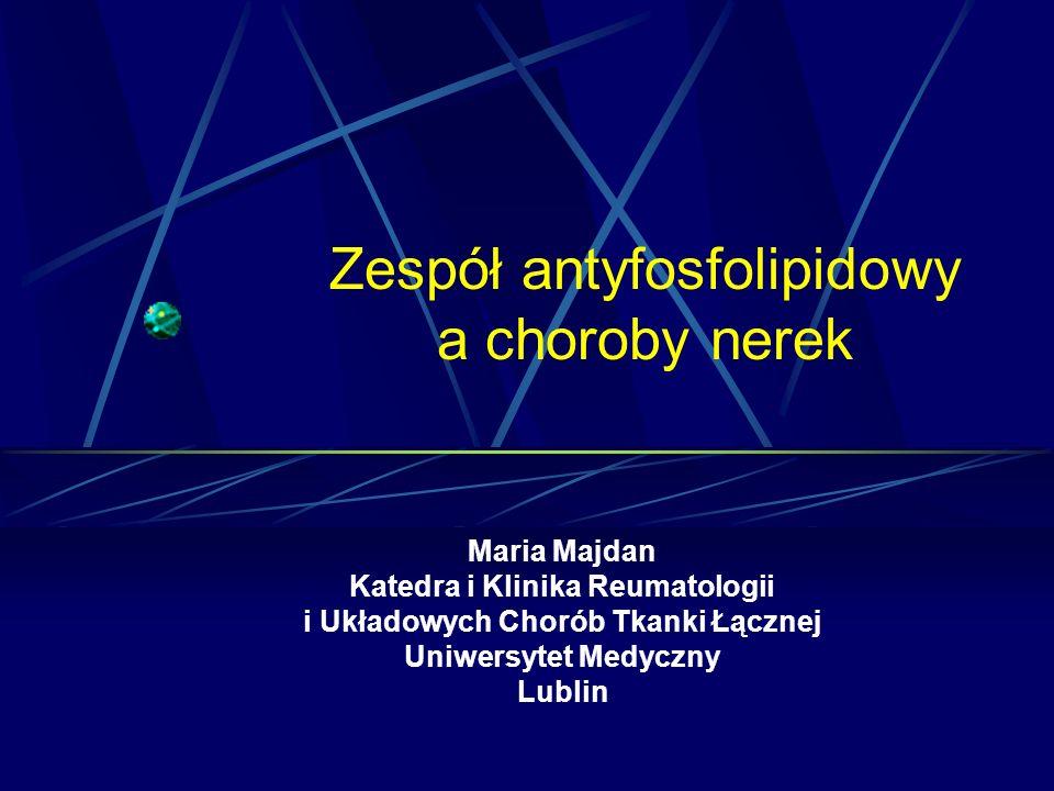 Zespół antyfosfolipidowy a choroby nerek