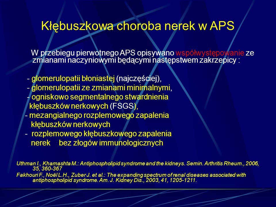 Kłębuszkowa choroba nerek w APS
