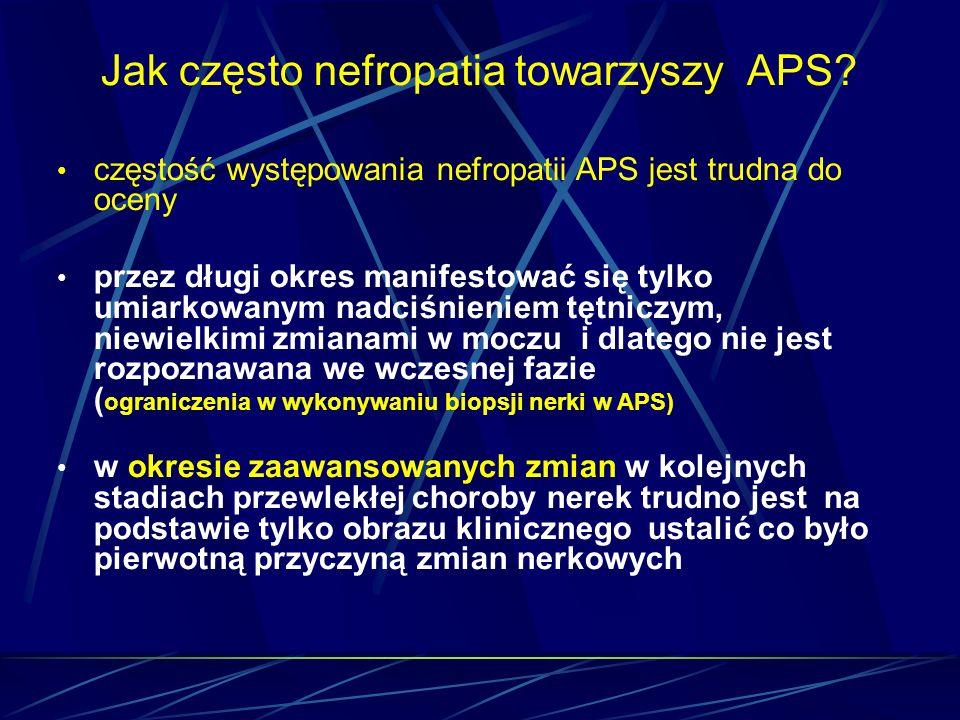 Jak często nefropatia towarzyszy APS