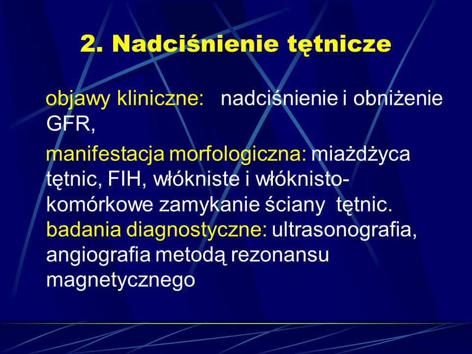 2. Nadciśnienie tętnicze