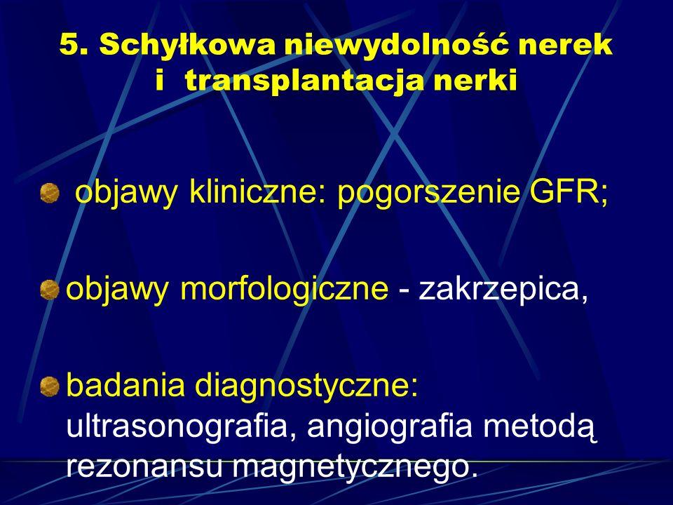 5. Schyłkowa niewydolność nerek i transplantacja nerki