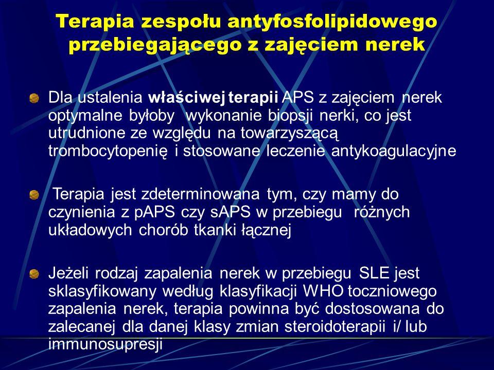 Terapia zespołu antyfosfolipidowego przebiegającego z zajęciem nerek