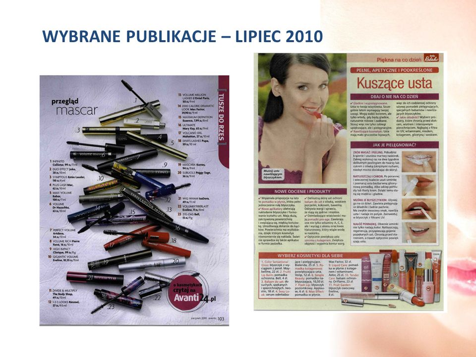 WYBRANE PUBLIKACJE – LIPIEC 2010