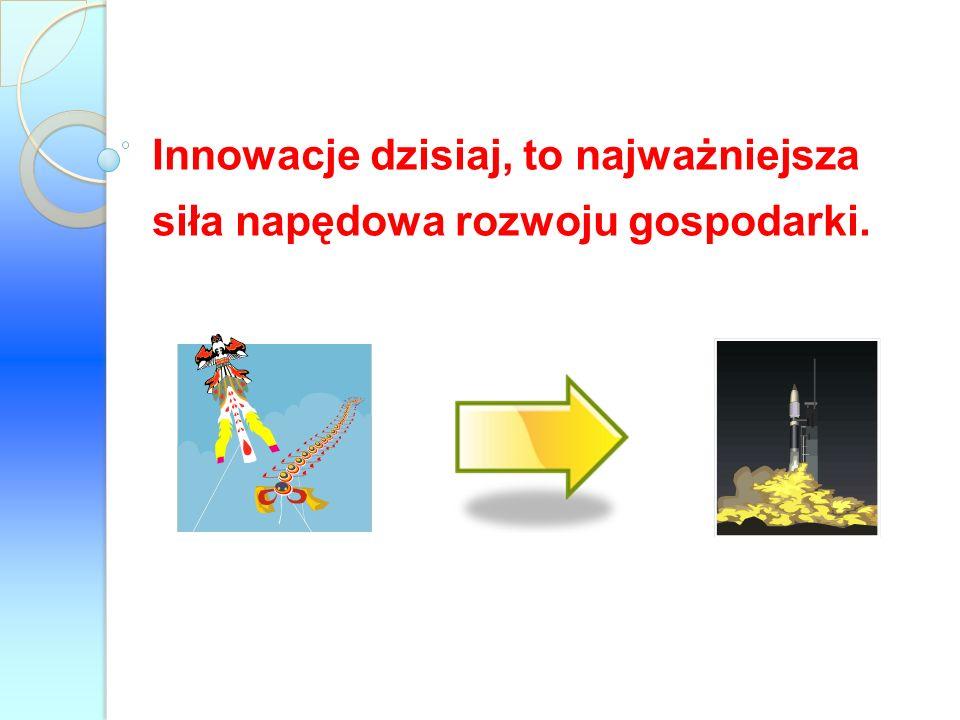 Innowacje dzisiaj, to najważniejsza siła napędowa rozwoju gospodarki.