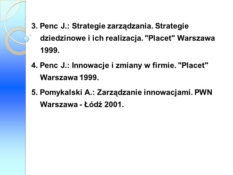 3. Penc J. : Strategie zarządzania