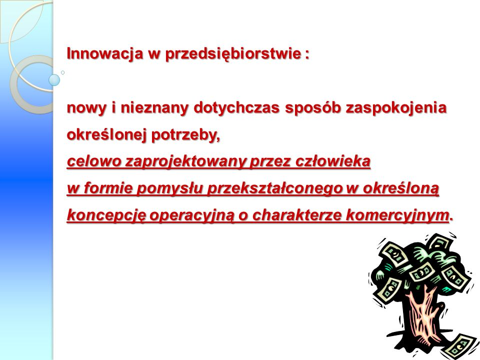 Innowacja w przedsiębiorstwie :