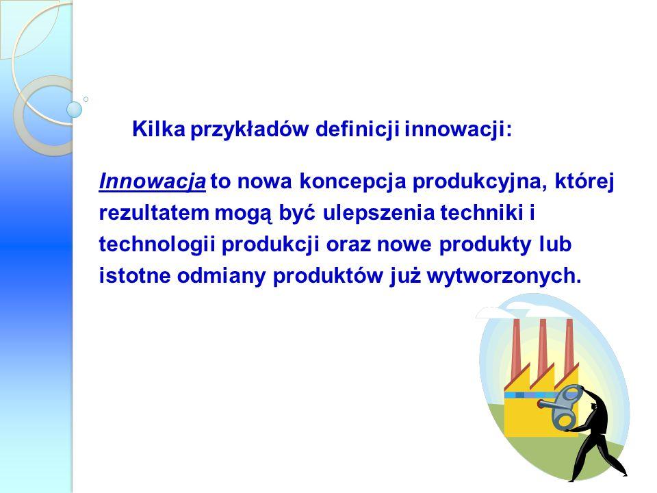 Kilka przykładów definicji innowacji: