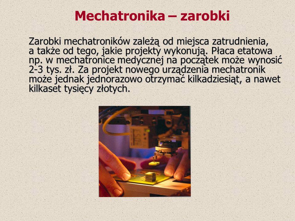 Mechatronika – zarobki