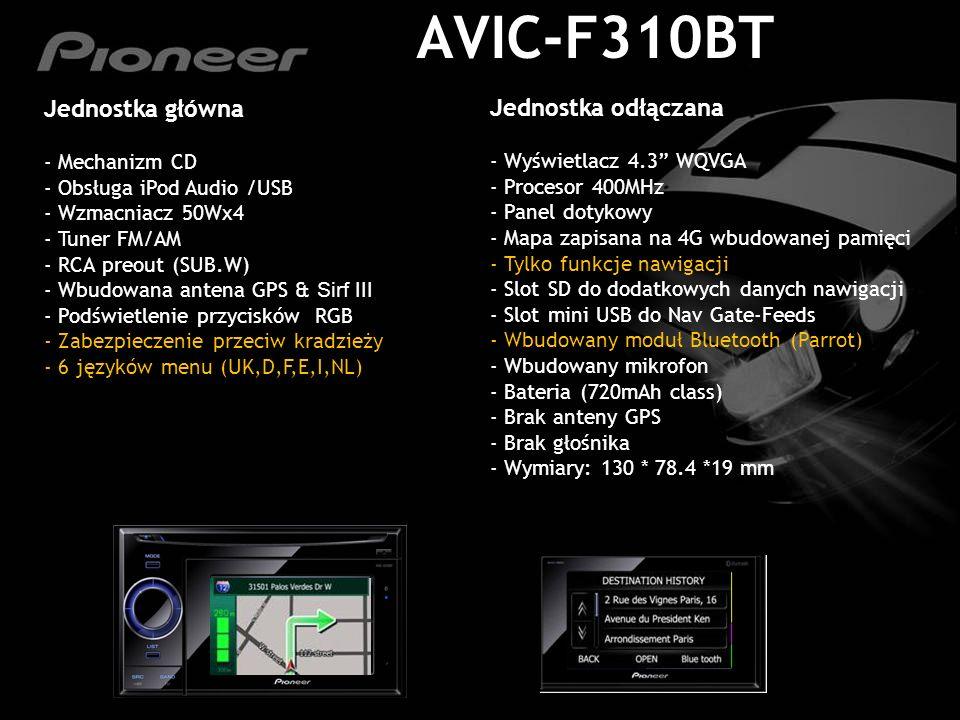 AVIC-F310BT Jednostka główna Jednostka odłączana Mechanizm CD
