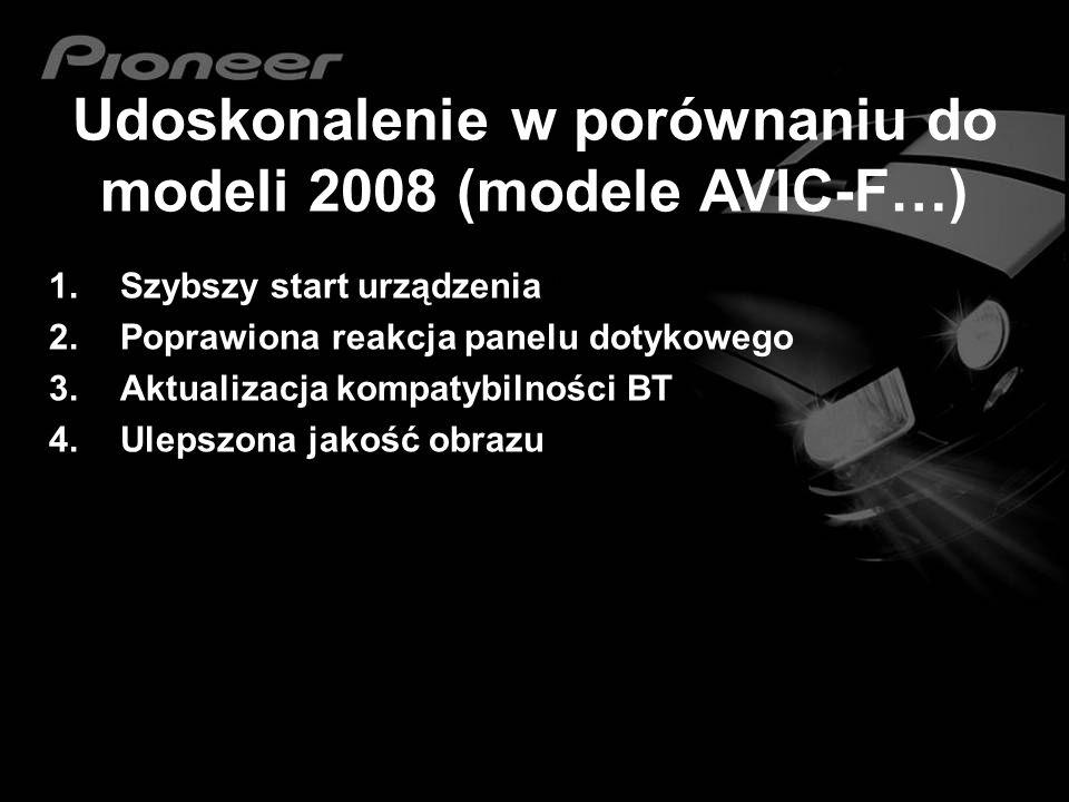 Udoskonalenie w porównaniu do modeli 2008 (modele AVIC-F…)