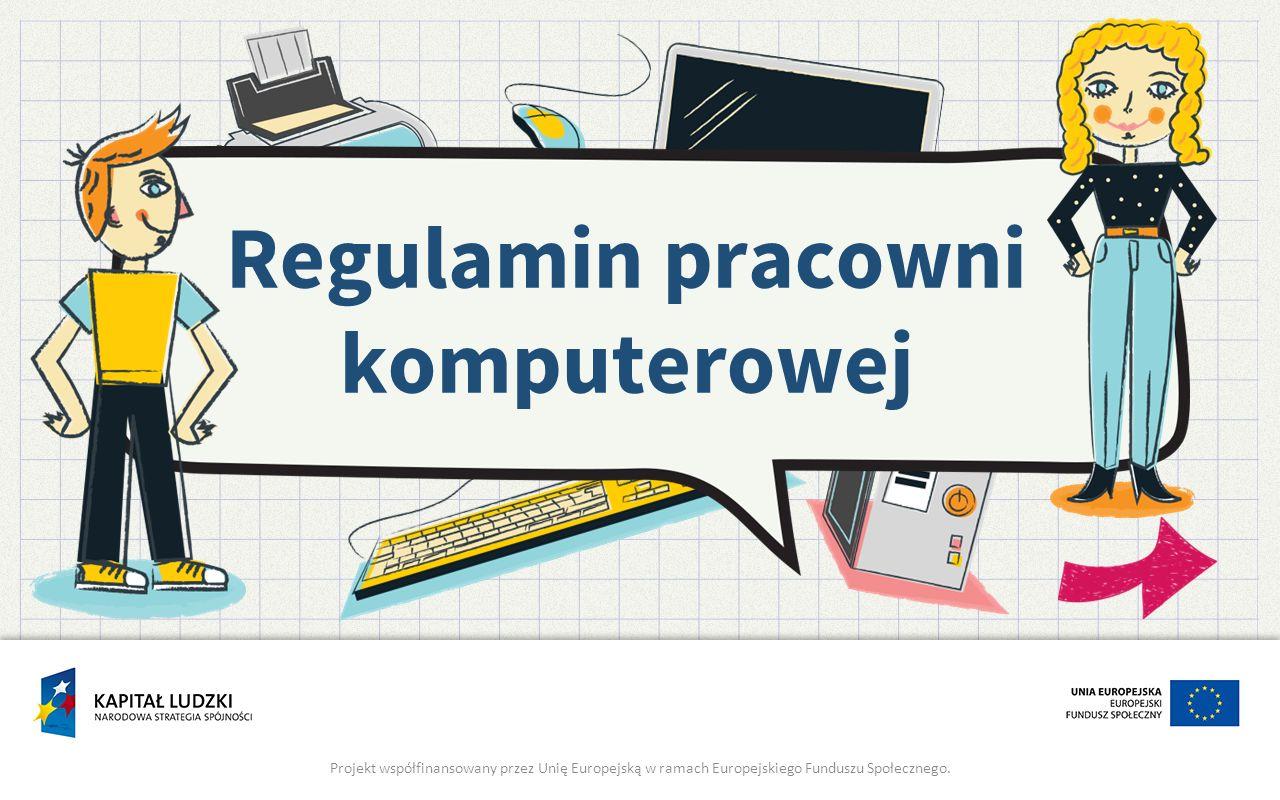Regulamin pracowni komputerowej