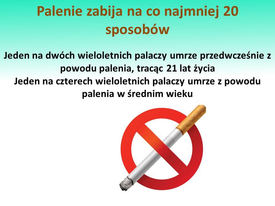 Palenie zabija na co najmniej 20 sposobów