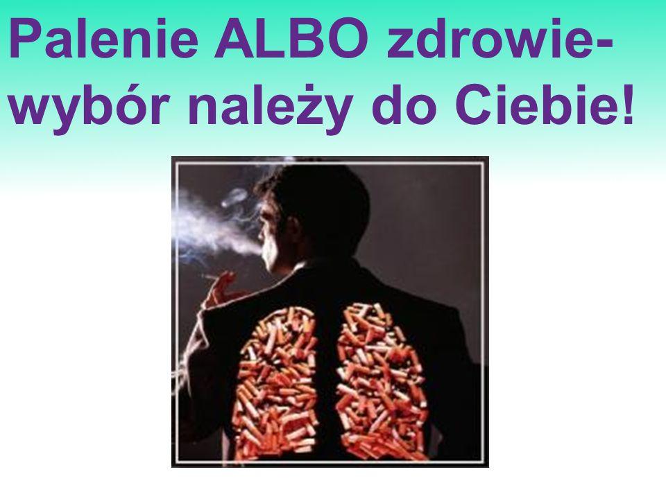 Palenie ALBO zdrowie- wybór należy do Ciebie!