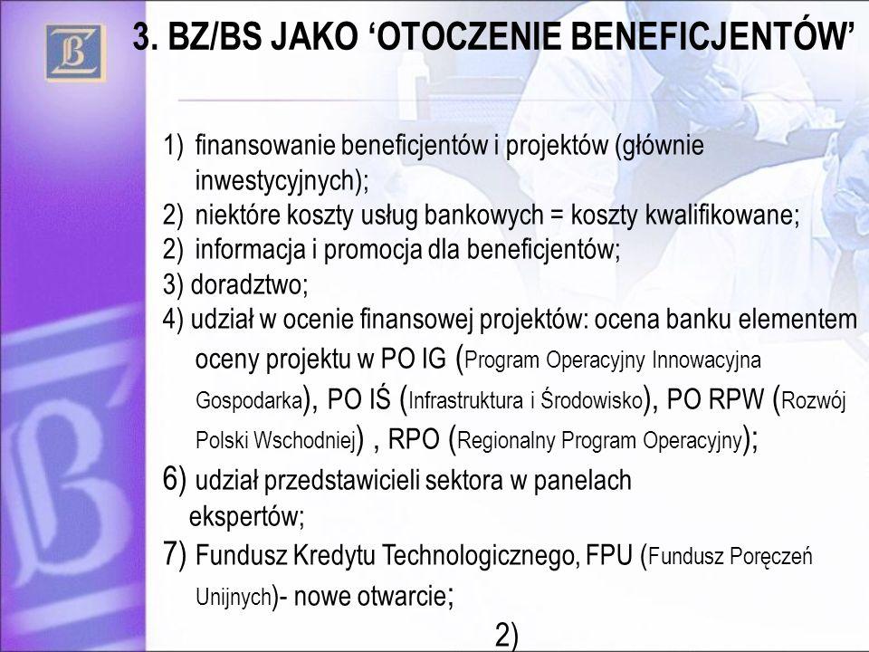 3. BZ/BS JAKO 'OTOCZENIE BENEFICJENTÓW'