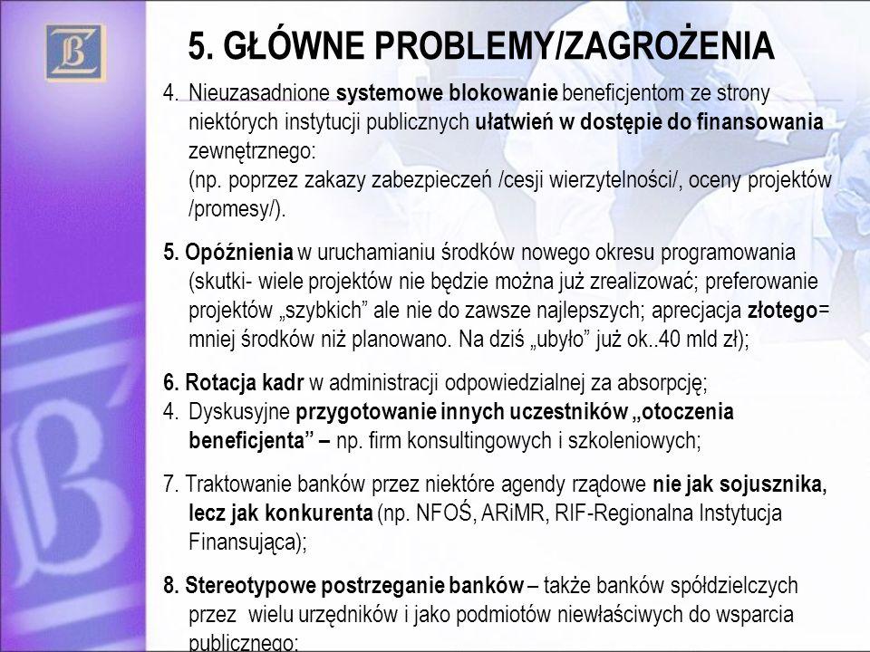 5. GŁÓWNE PROBLEMY/ZAGROŻENIA