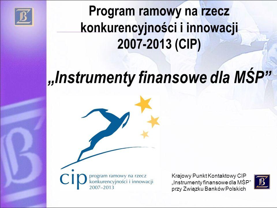 """""""Instrumenty finansowe dla MŚP"""