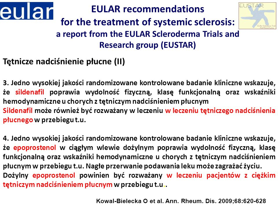 EULAR recommendations for the treatment of systemic sclerosis: a report from the EULAR Scleroderma Trials and Research group (EUSTAR)