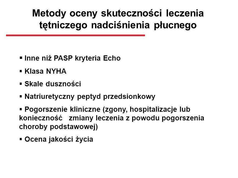 Metody oceny skuteczności leczenia tętniczego nadciśnienia płucnego