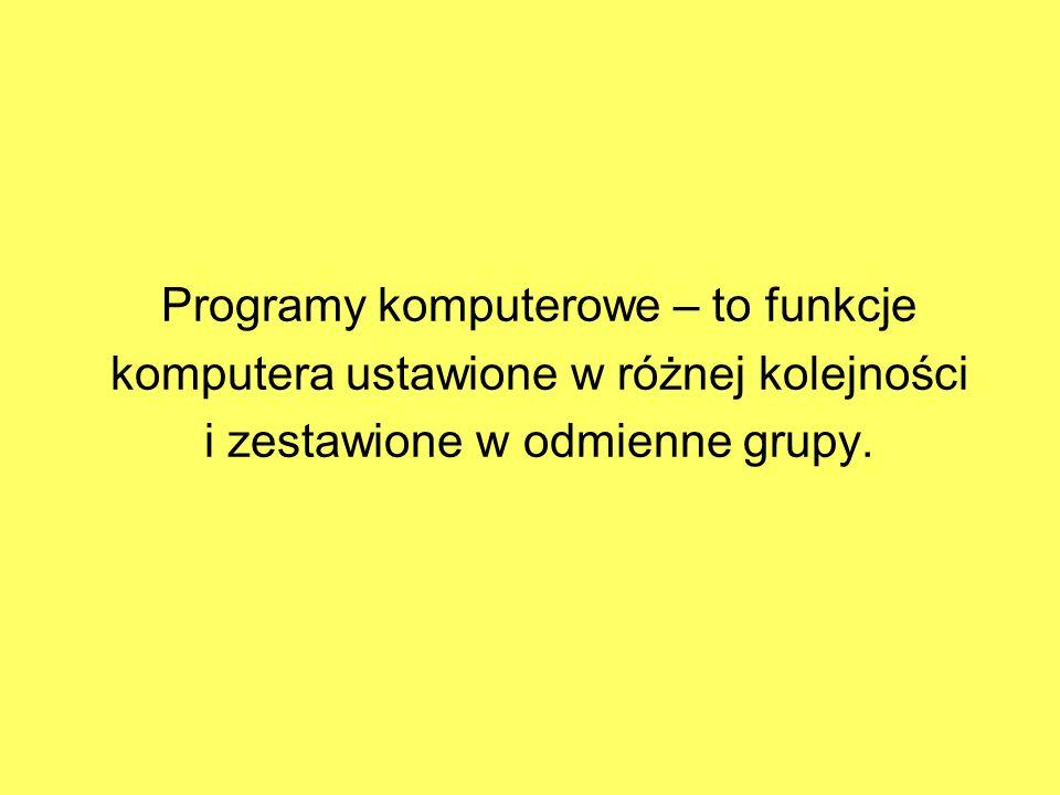 Programy komputerowe – to funkcje