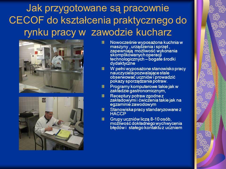 Jak przygotowane są pracownie CECOF do kształcenia praktycznego do rynku pracy w zawodzie kucharz