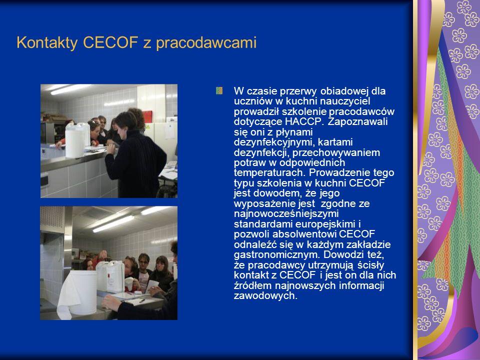 Kontakty CECOF z pracodawcami