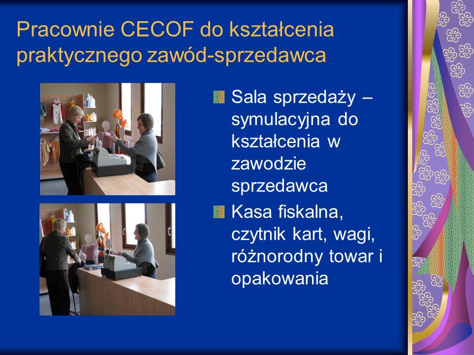 Pracownie CECOF do kształcenia praktycznego zawód-sprzedawca