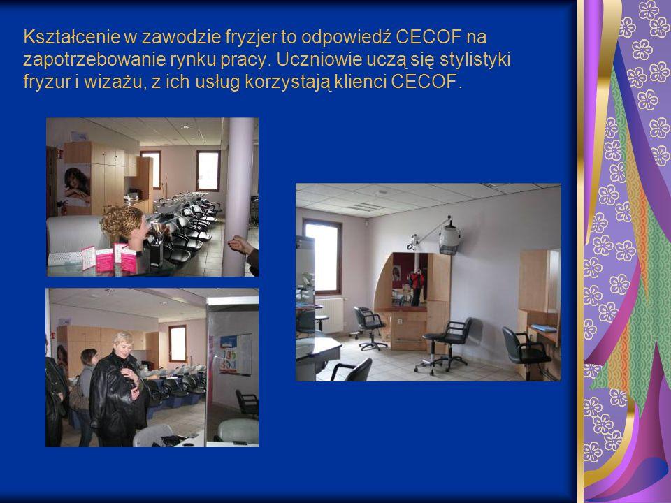 Kształcenie w zawodzie fryzjer to odpowiedź CECOF na zapotrzebowanie rynku pracy.