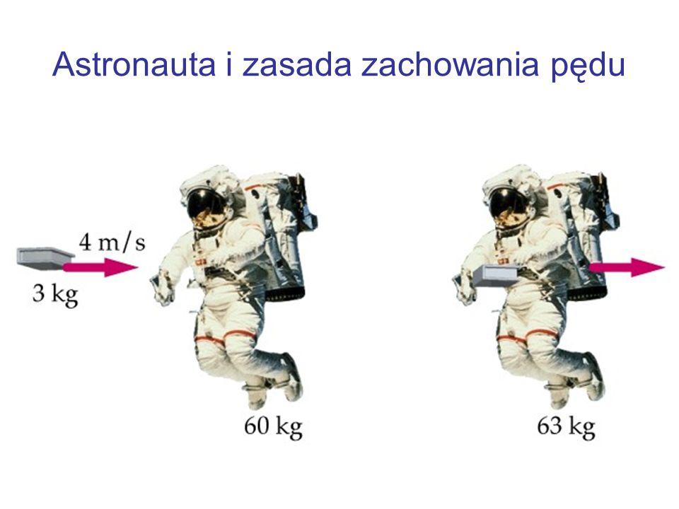 Astronauta i zasada zachowania pędu