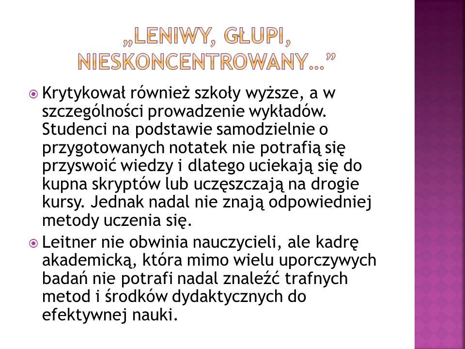 """""""LENIWY, GŁUPI, NIESKONCENTROWANY…"""