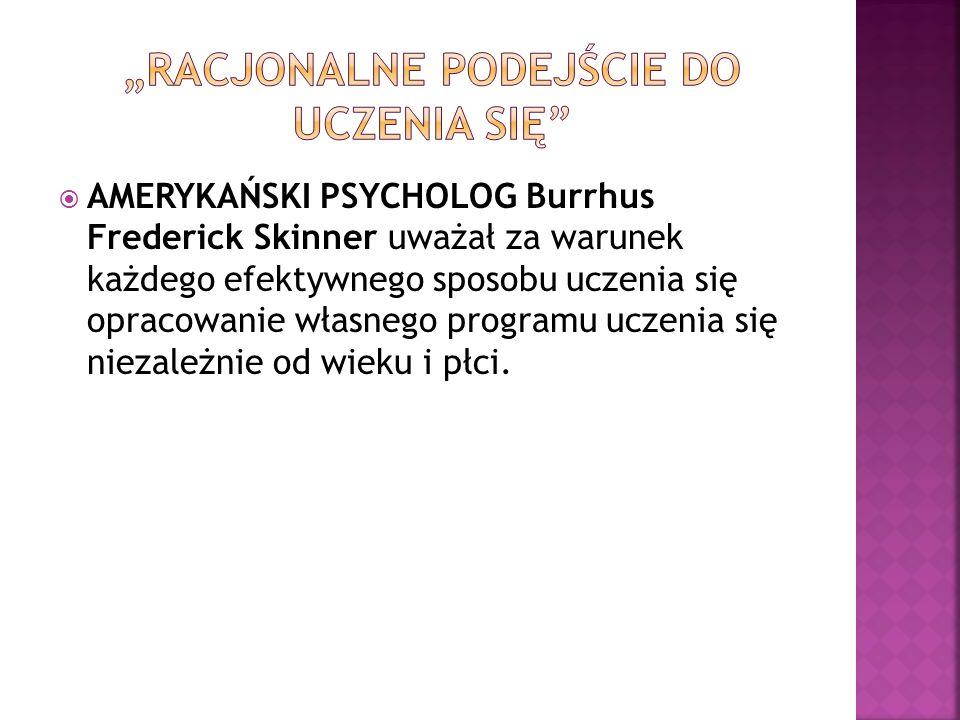 """""""RACJONALNE PODEJŚCIE DO UCZENIA SIĘ"""