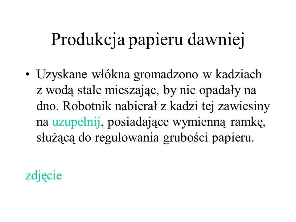 Produkcja papieru dawniej