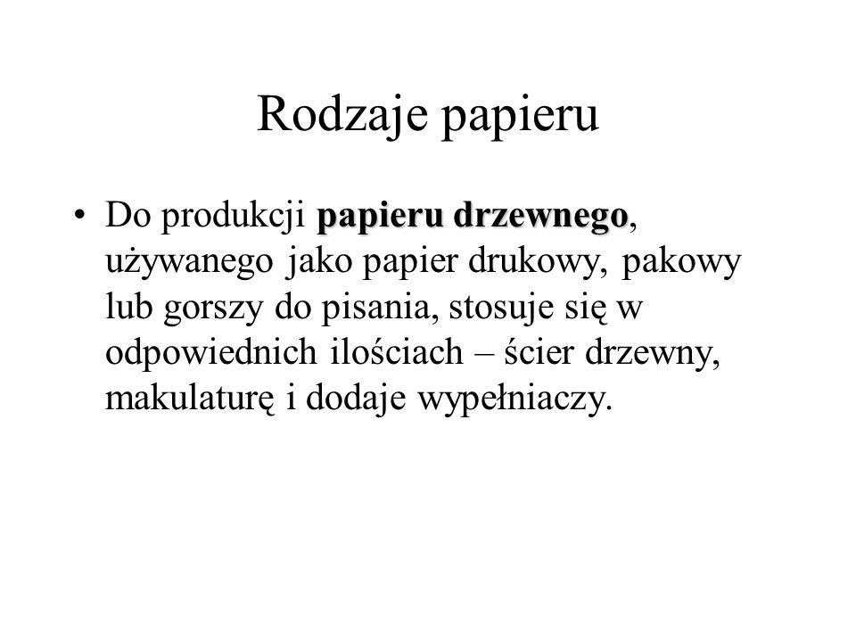 Rodzaje papieru